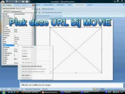 Youtube filmpje in powerpoint 2007