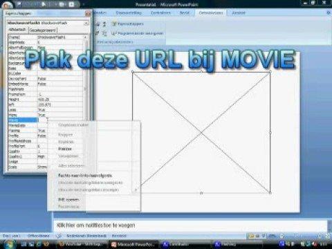 Youtube filmpje in powerpoint 2007